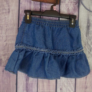 girls okie dokie jean skirt elastic waist 5T N40